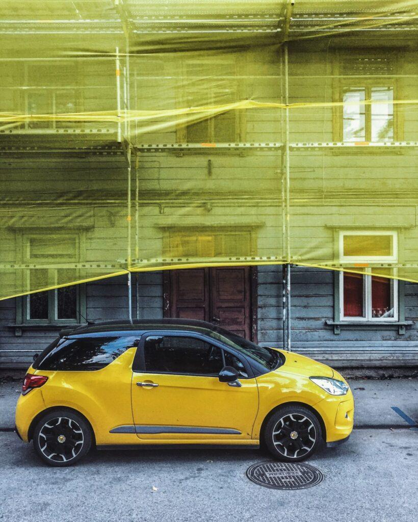 Yellow car by Tõnu Runnel