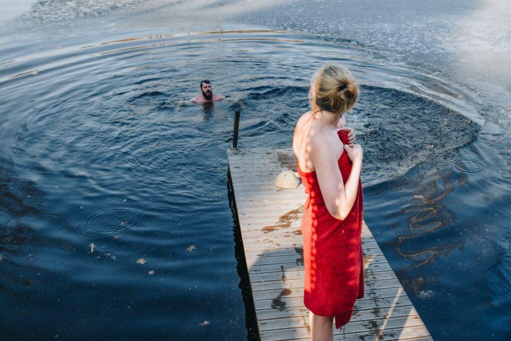 Swimming by Ekvilibrist Estonian Saunas