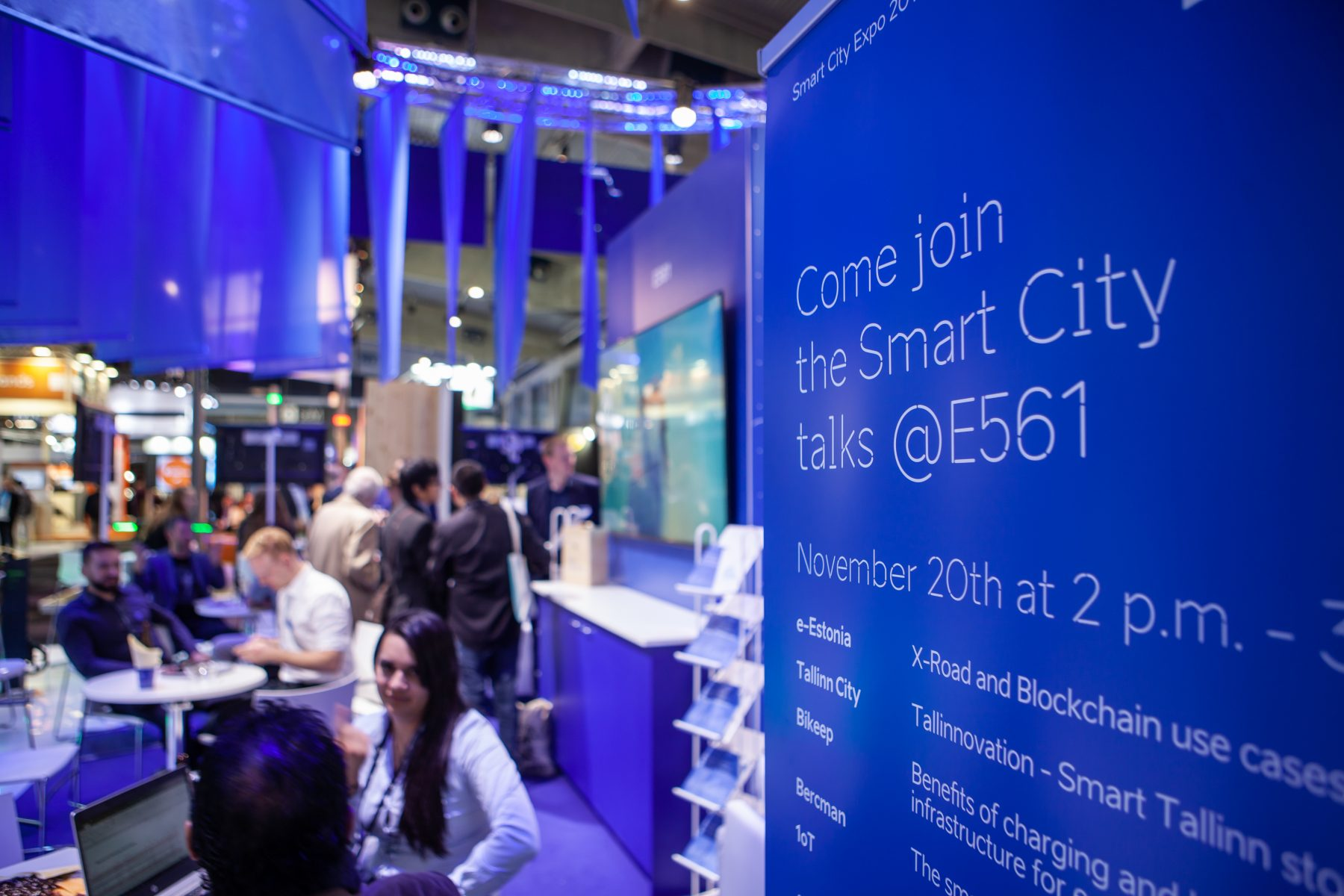 Smart city expo booth