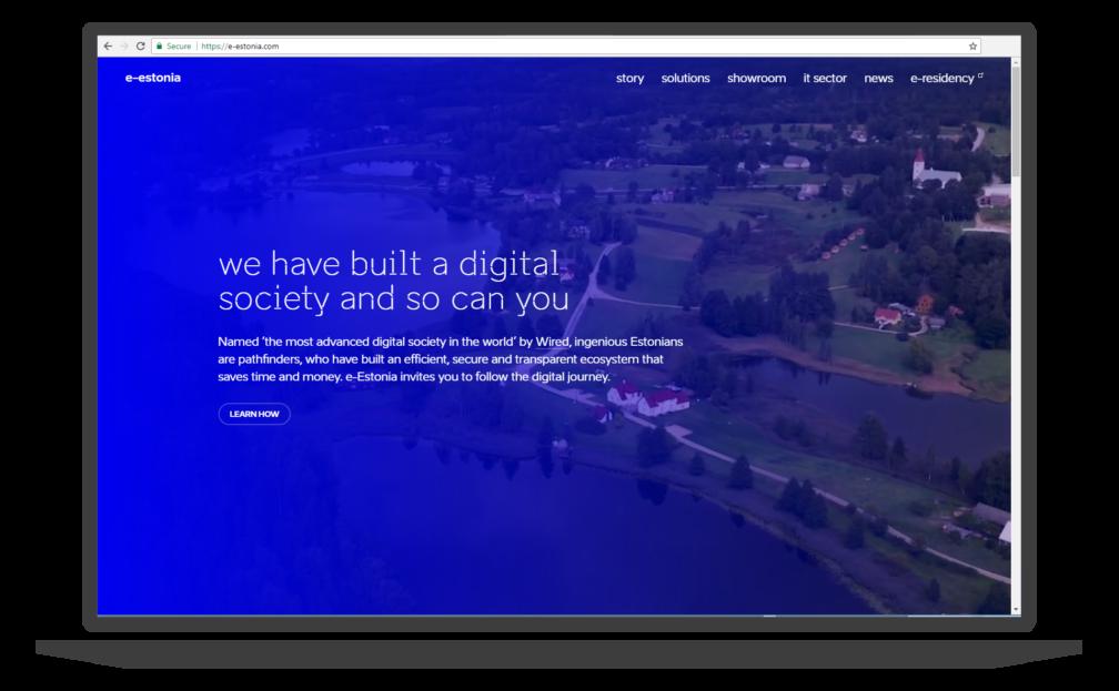 e-estonia.com website screenshot