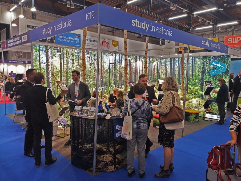Study in Estonia expo booth