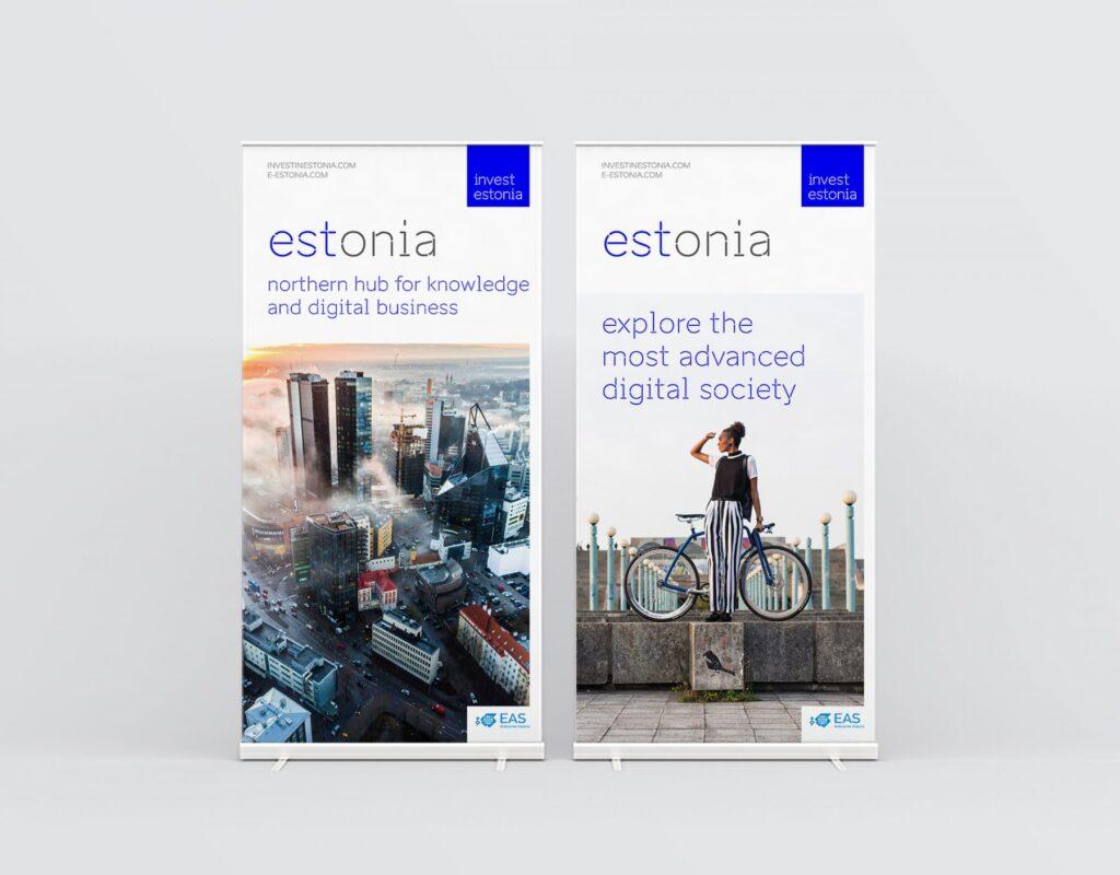 Invest estonia roll-up banner design