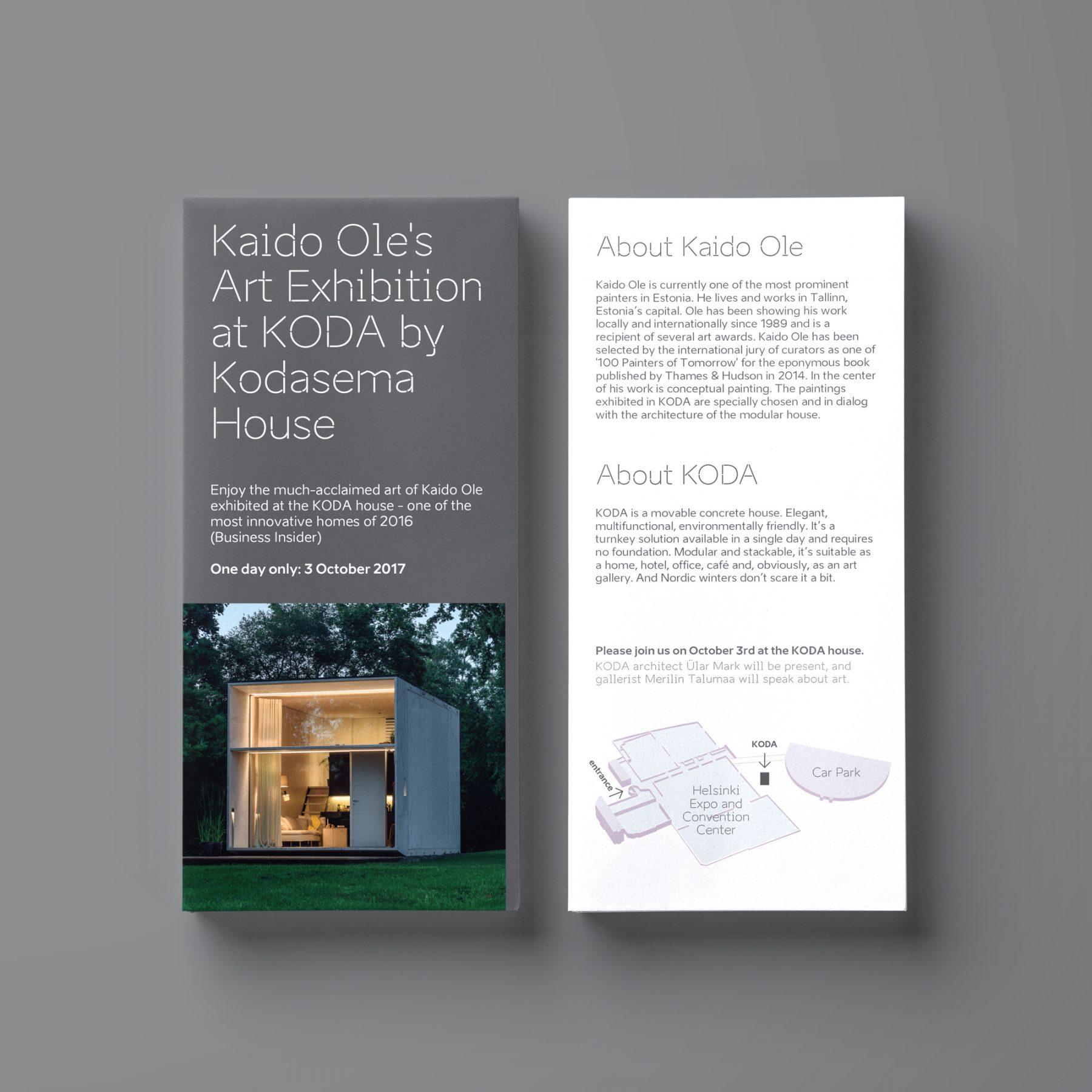 Kado Ole Exhibitions brochure design