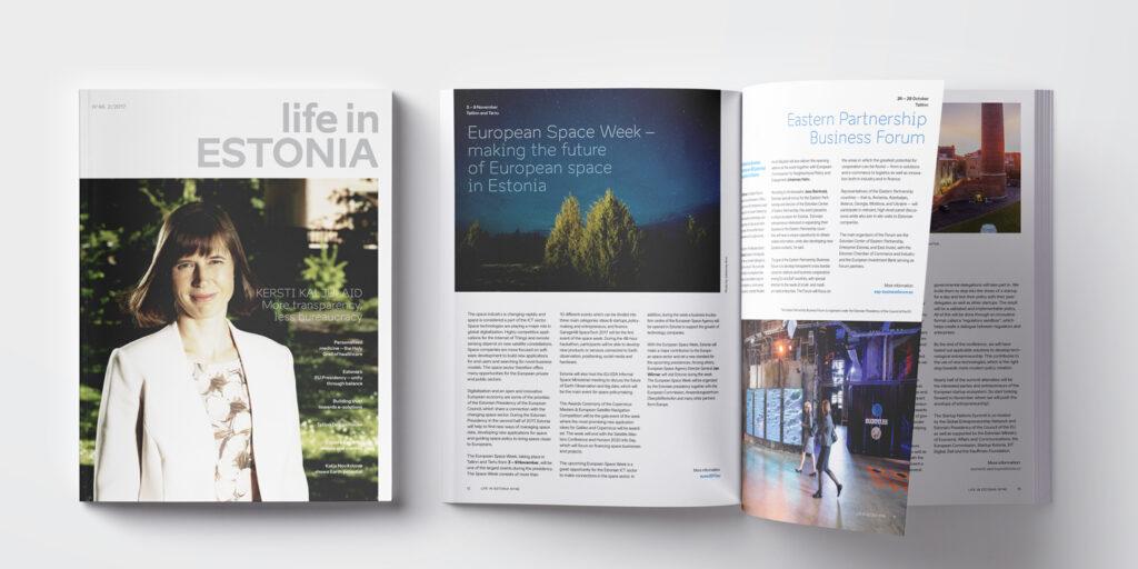 LifeInEstonia magazine design mockup