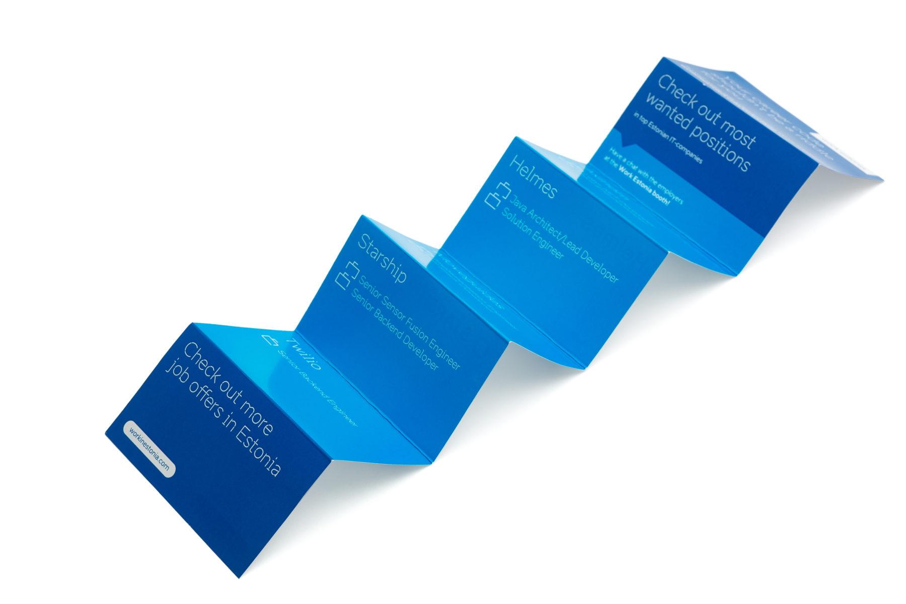 Work in Estonia brochure design