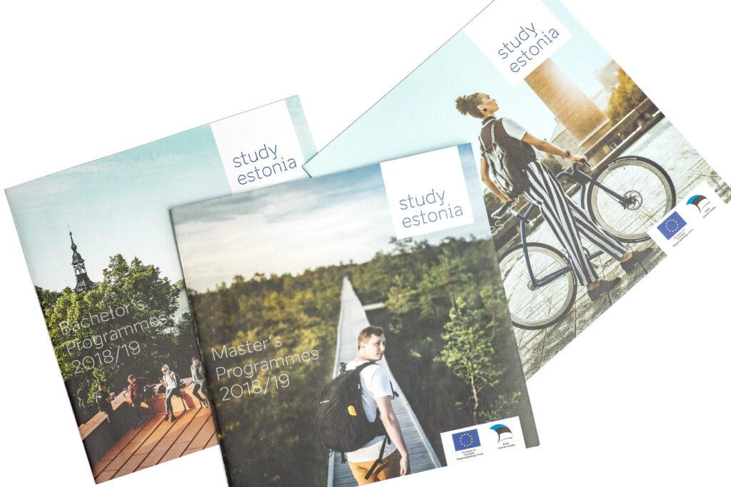 Study Estonia booklet covers
