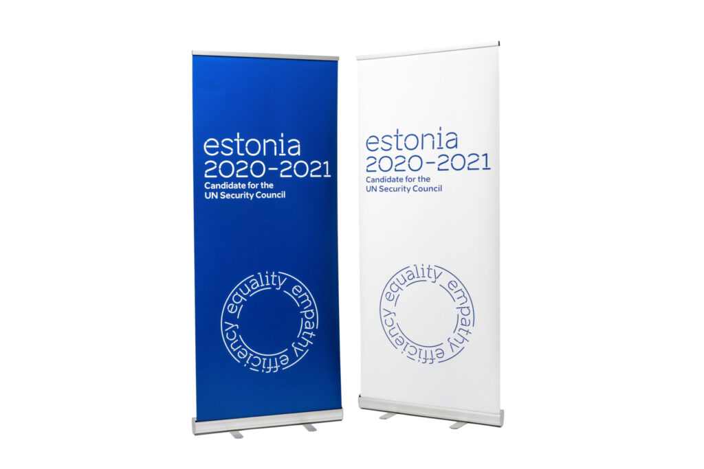 UN Security Council roll-up banner