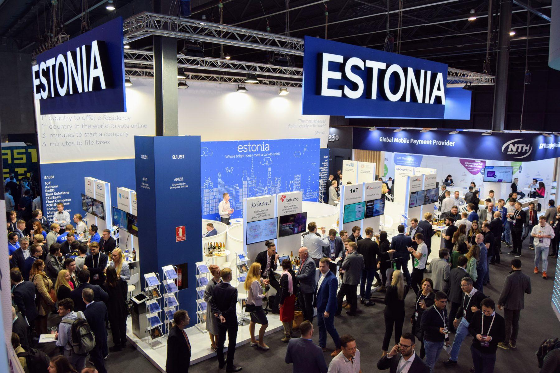 Mobile world congress expo booth