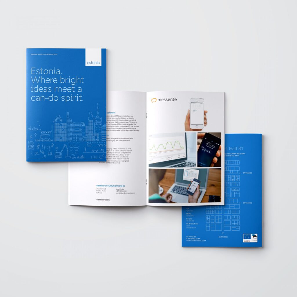 Mobile world congress 2018 brochure mockup