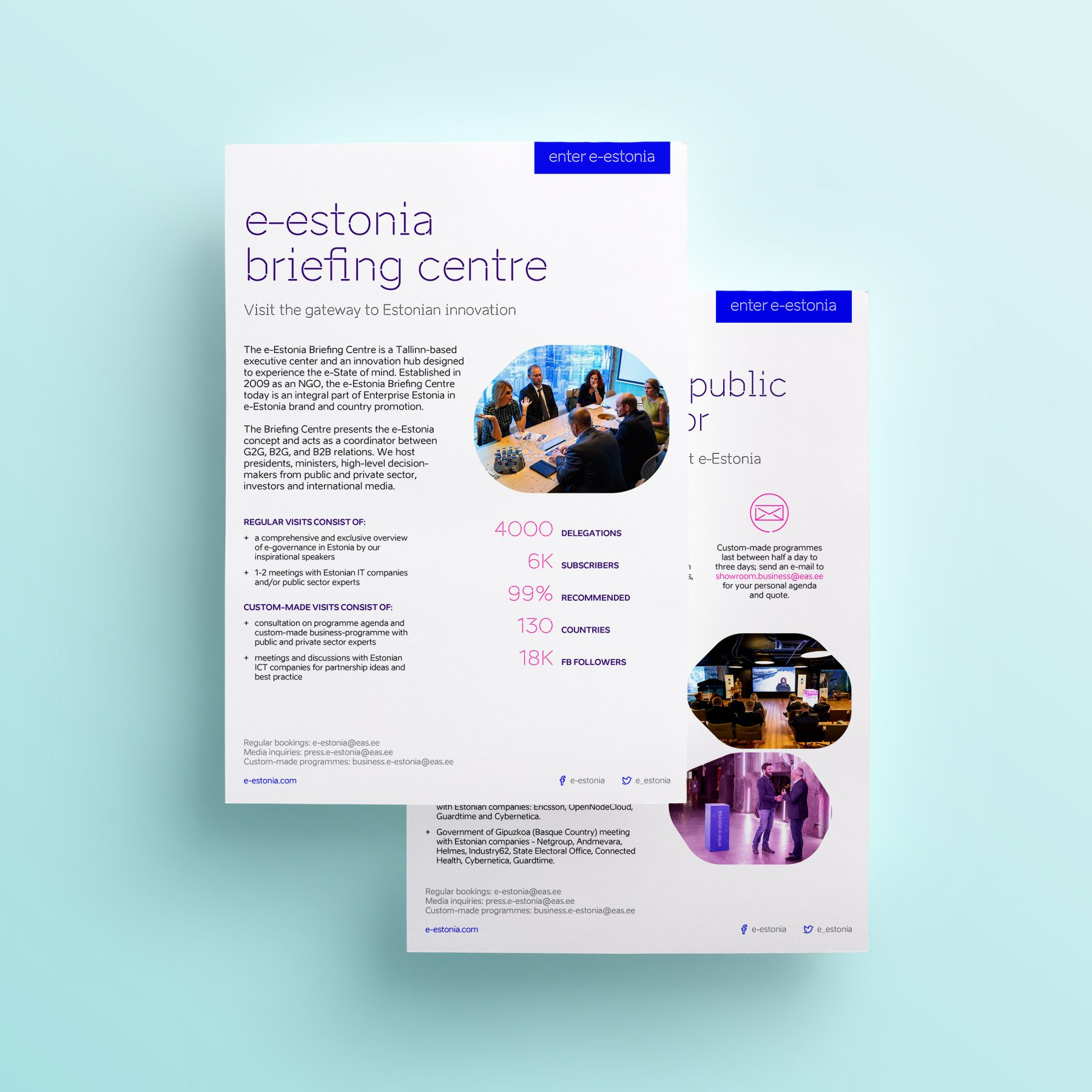 Showroom brochure mockup