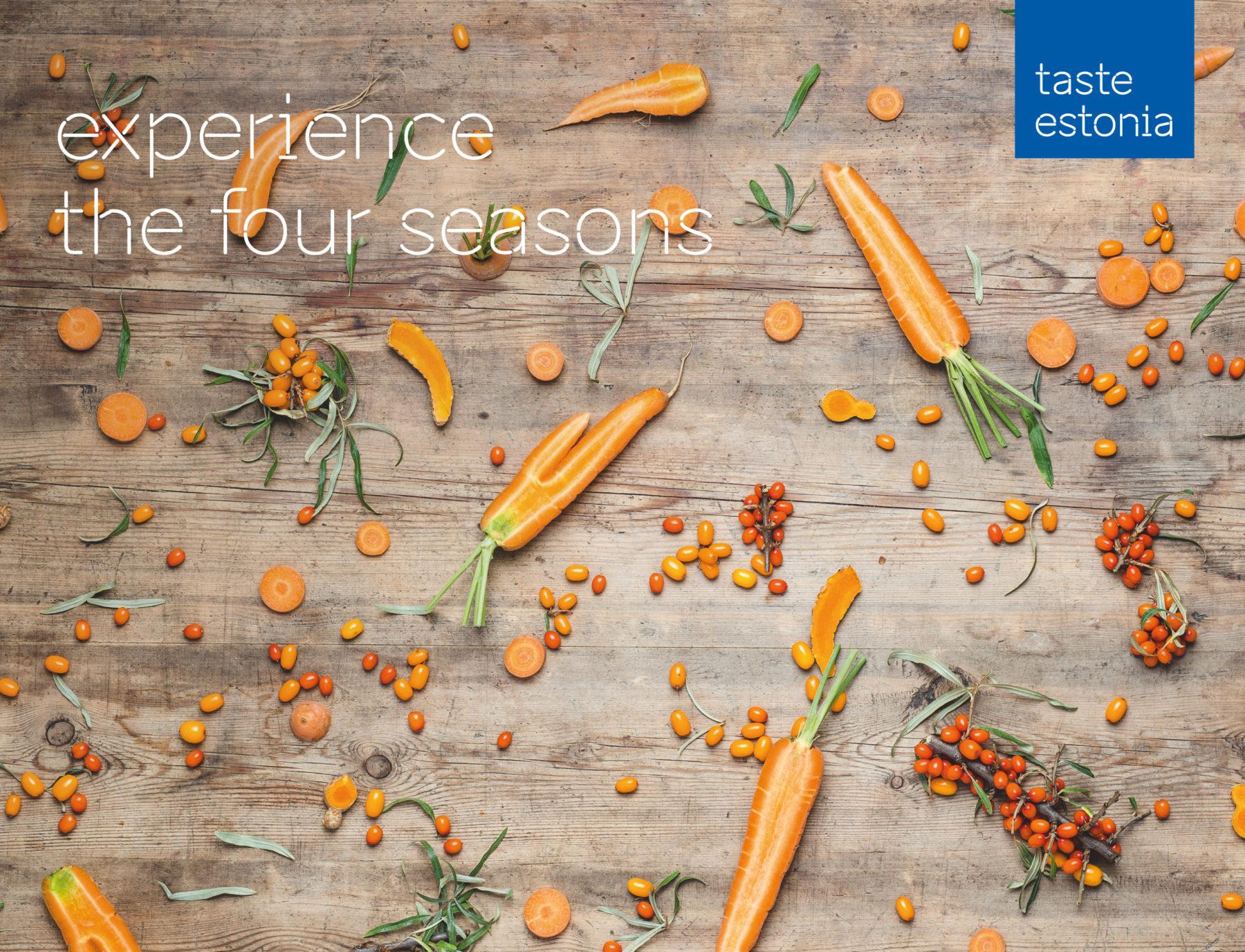 Taste Estonia photo wall with carrots