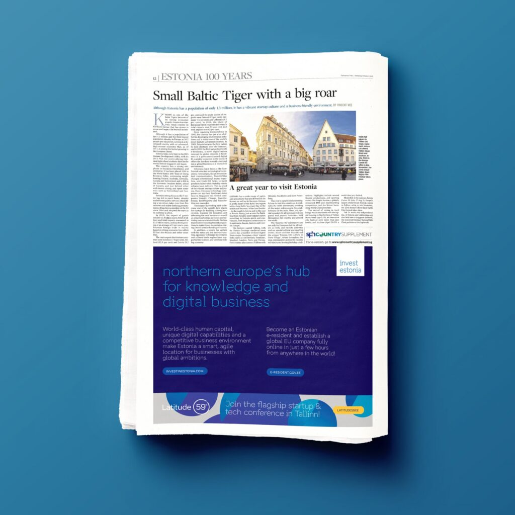 Mockup on how ad is displayed in the paper
