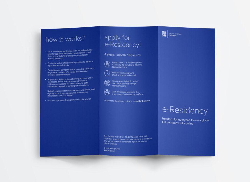e-residency booklet design from outside