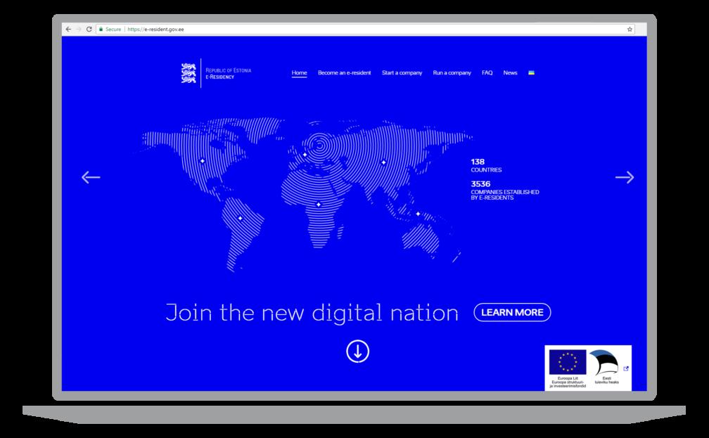 e-residency website screenshot