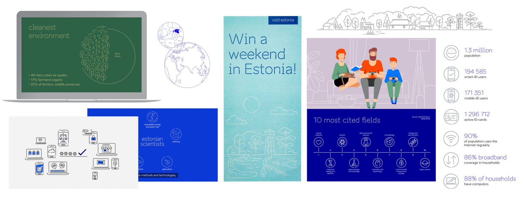 brand estonia illustrations examples