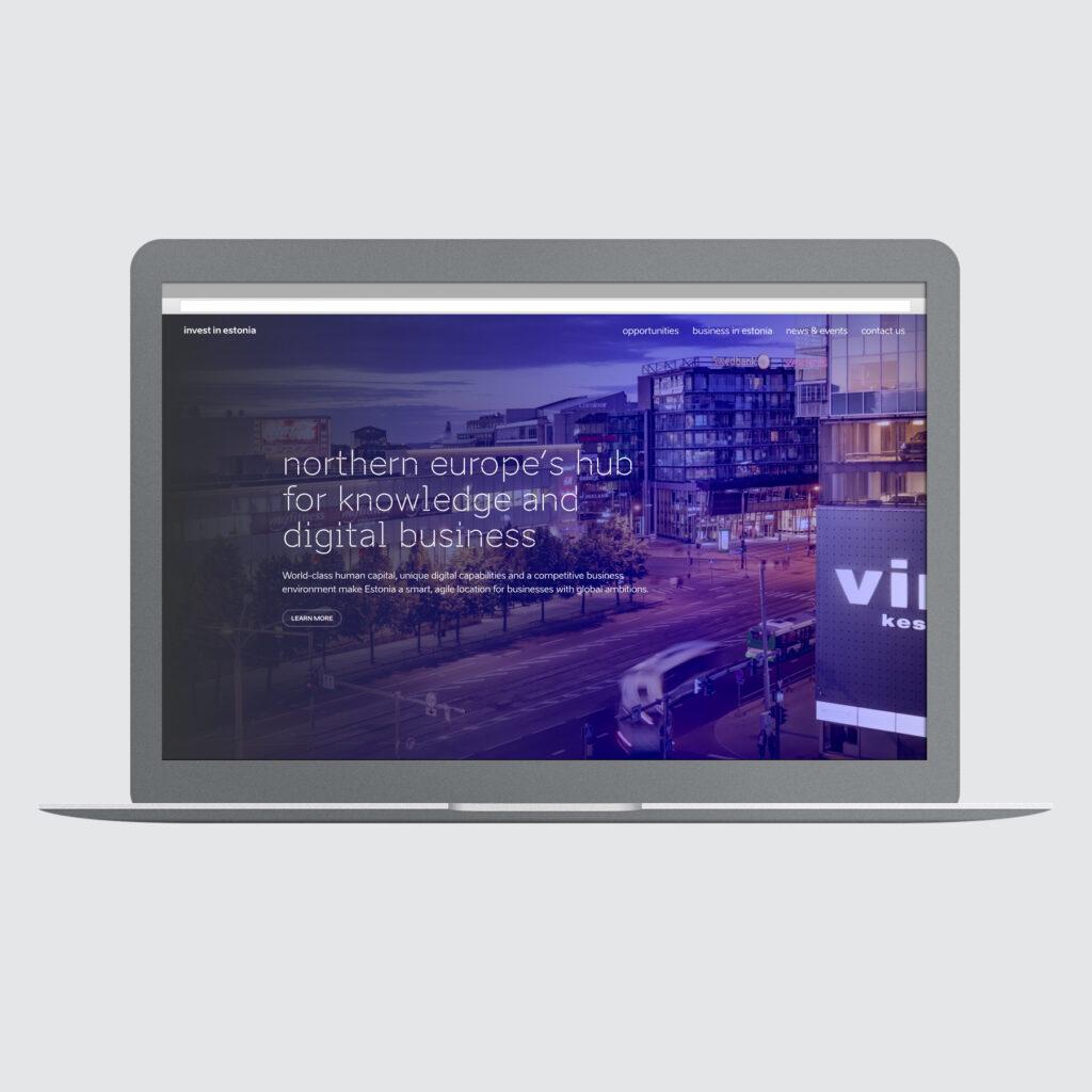 invest in estonia webssite screenshot