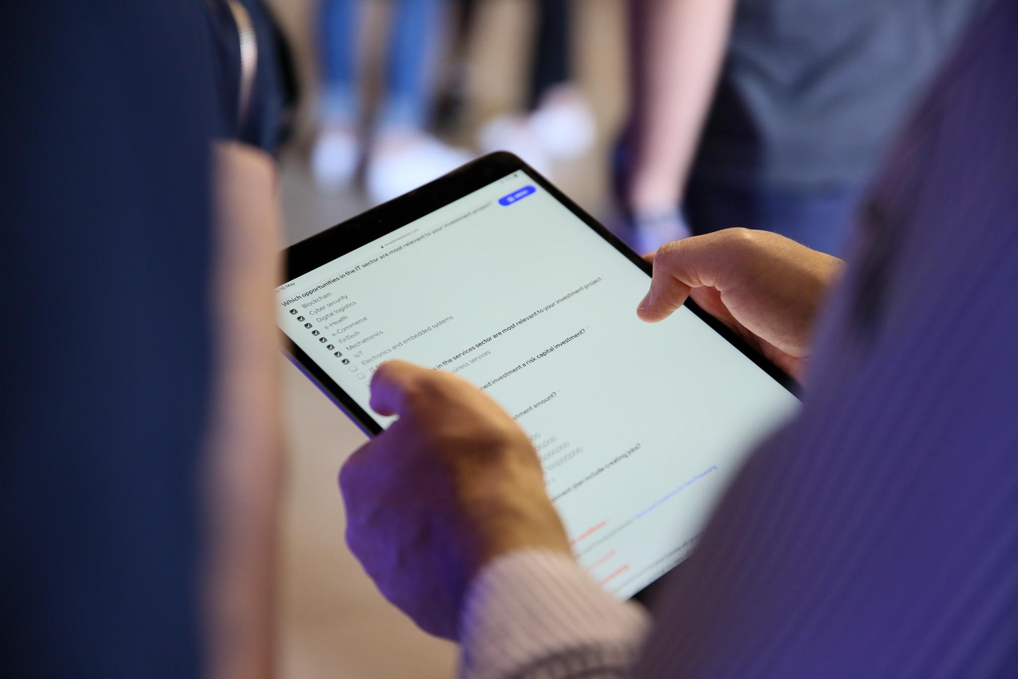 Filling application on tablet