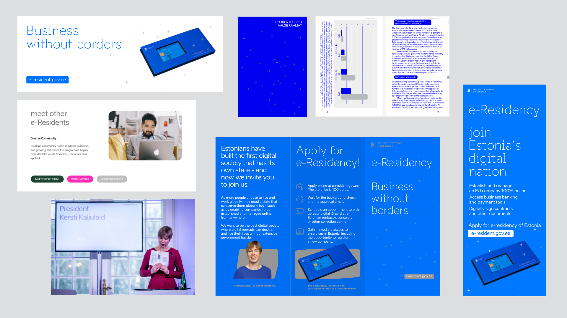 e-residency identity layout and typography