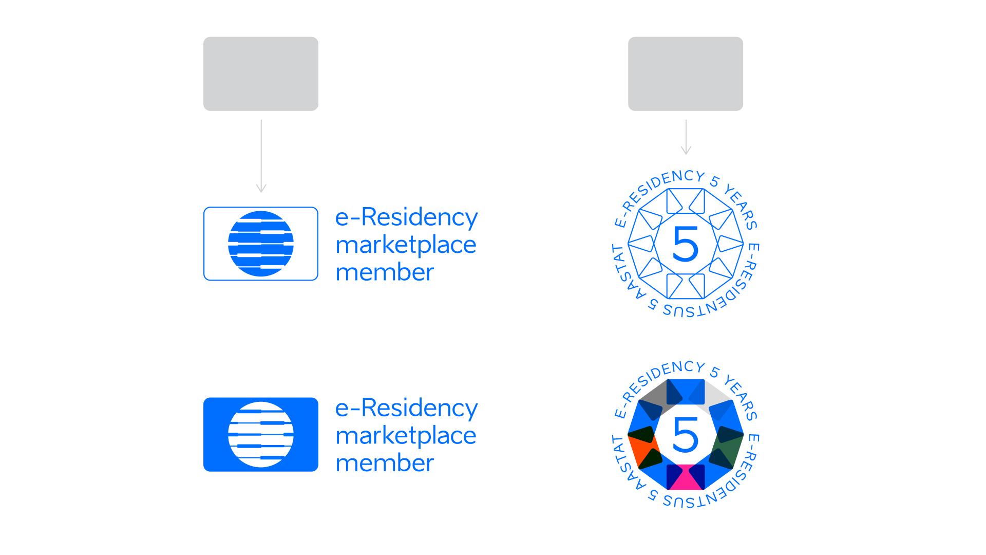 e-residency identity symbols and logo