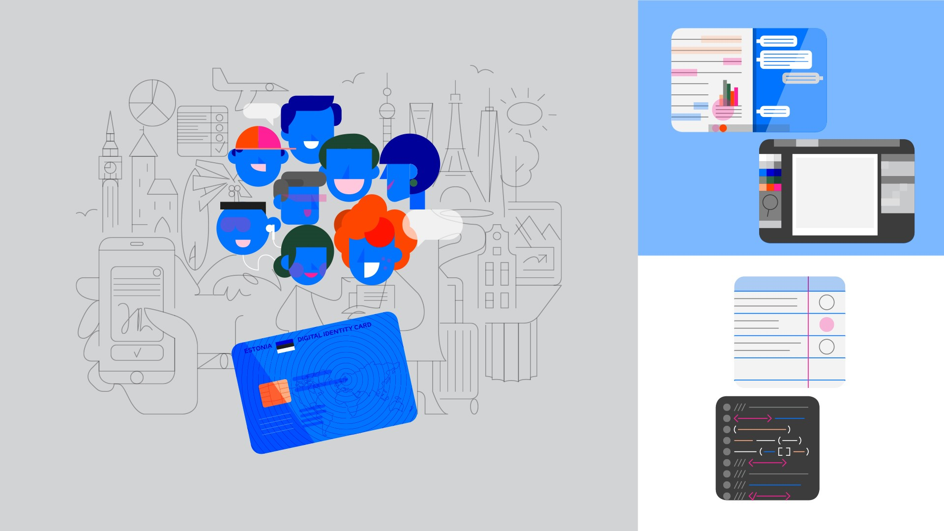 e-residency identity illustration style