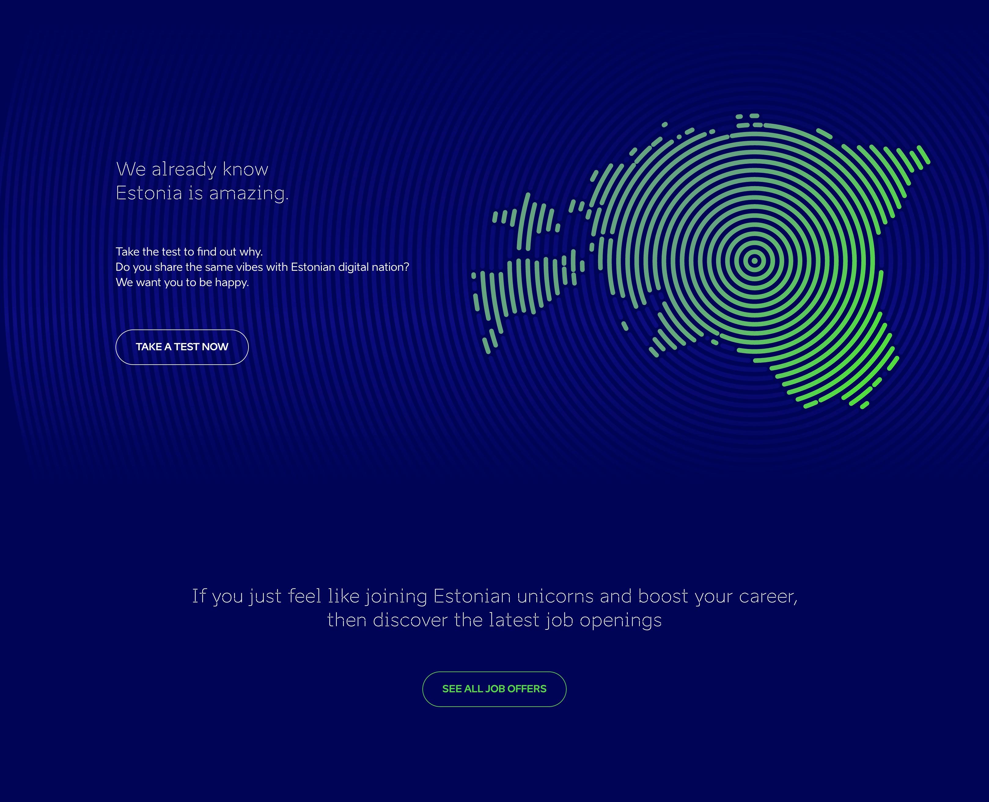 work in estonia kampaania näide
